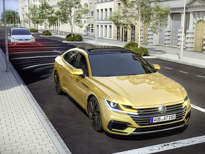 Proaktiver Insassenschutz: Der neue VW Arteon spannt vor einem Unfall die Muskeln an