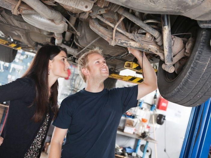 Ausreichender Unterbodenschutz für das Auto