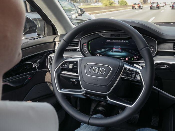 Einfach das Auto selbst fahren lassen: Der Audi AI Staupilot öffnet Wege in die Welt des hochautomatisierten Fahrens