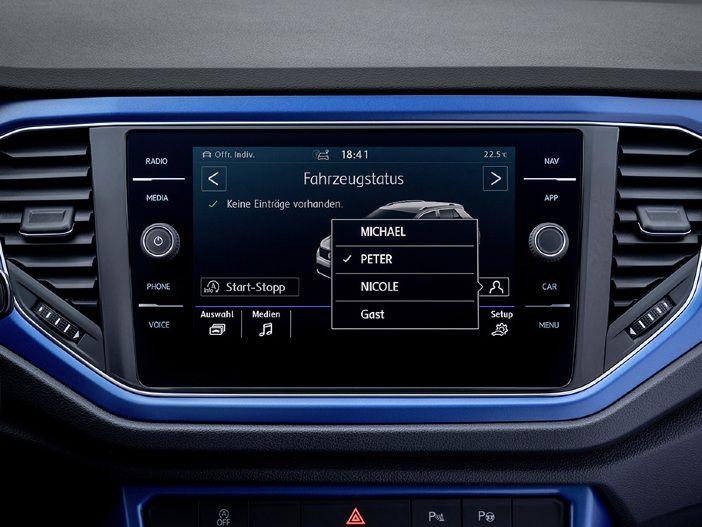"""Sofort optimal sitzen und den """"richtigen"""" Radiosender hören: VW bietet viele Modelle mit automatisch abrufbarer Personalisierung an"""
